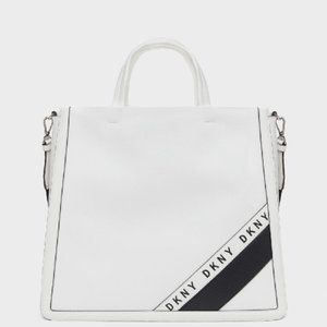 DKNY BOND NORTH-SOUTH TOTE IN WHITE